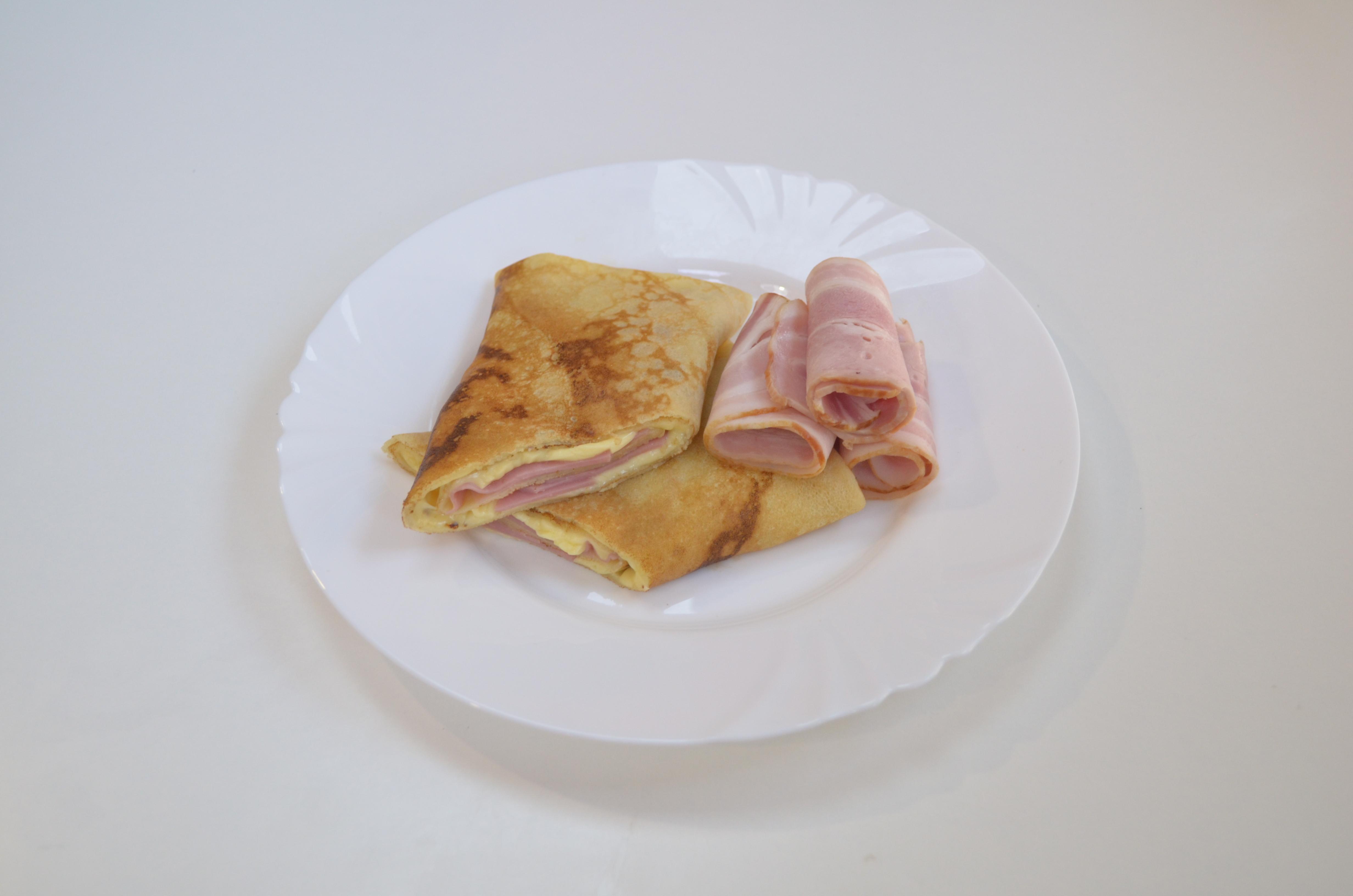 С беконом и сыром